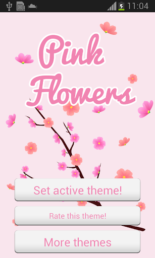 ピンクの花のGOキーボード