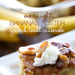 Overnight Bananas Foster French Toast