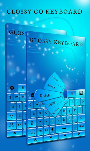Glossy GO Keyboard Theme