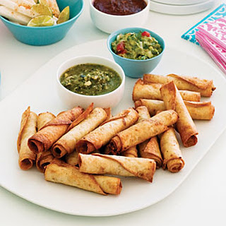 Bean and Chicken Taquitos.