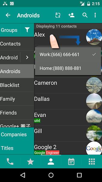 DW Contacts & Phone & Dialer Screenshot Image