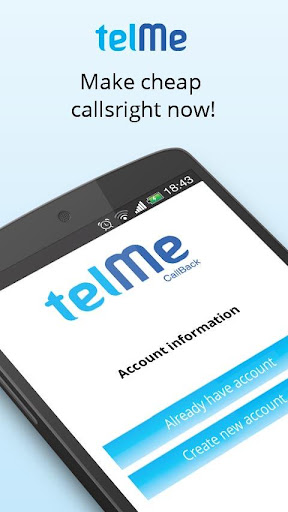 TelMe CallBack. Cheap Calls