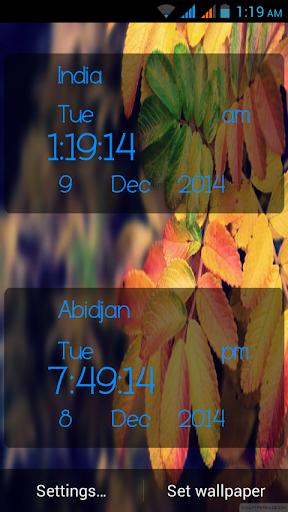Autumn Digital Clock