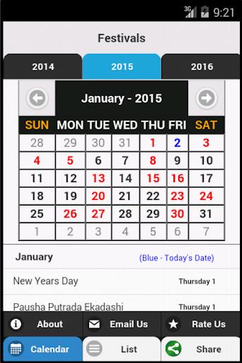 Indian Festivals Calendar