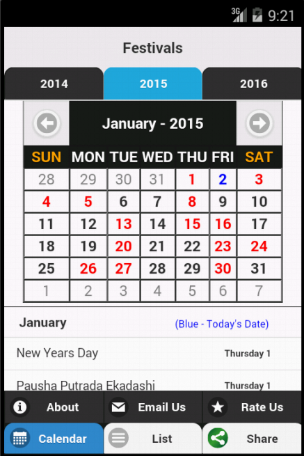 Indian Festivals Calendar- screenshot