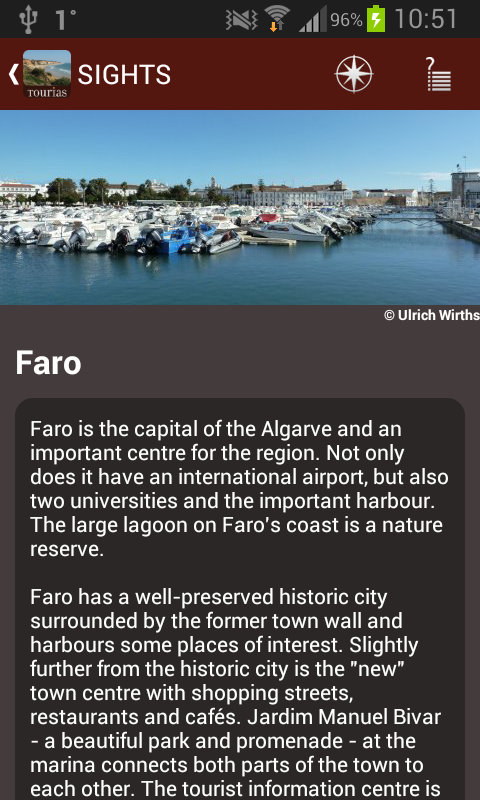 Algarve Travel Guide - Tourias - screenshot