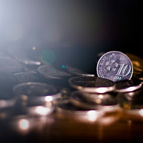 Coins by Budin DaneCreative - Artistic Objects Business Objects ( f1.8, cls, 10 cent, strobist, 50mm, malaysia, business, nikon d90, currency, lighting, coins, money, sen, nikon )