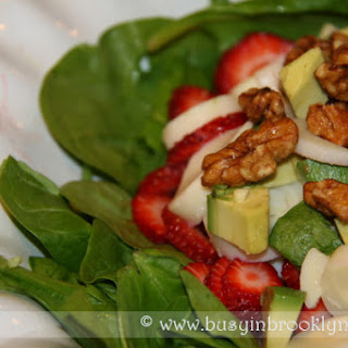 Spinach Strawberry Salad with Poppyseed Dressing