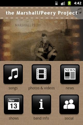 the Marshall/Peery Project - screenshot