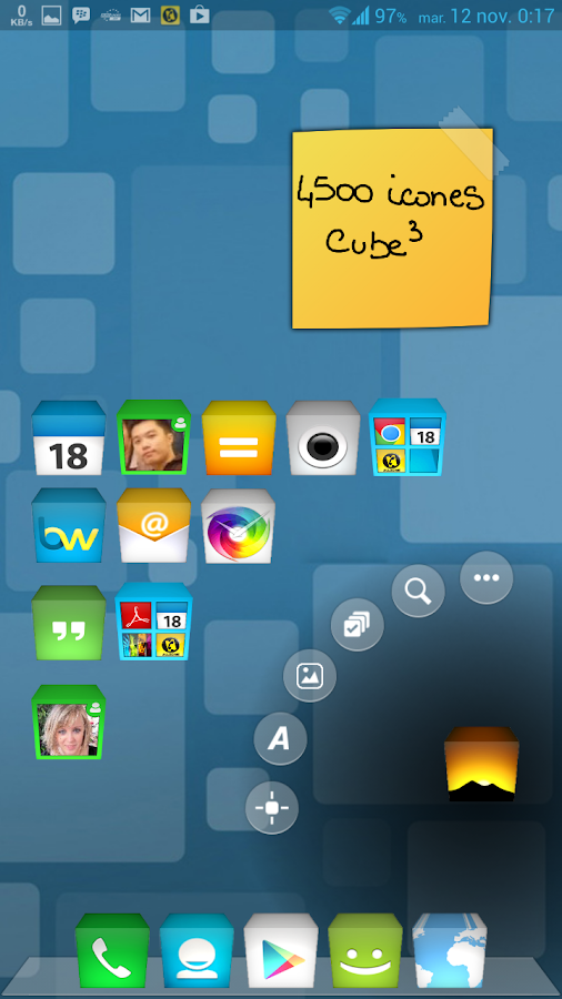 TSF Shell Theme CUBE3 - screenshot