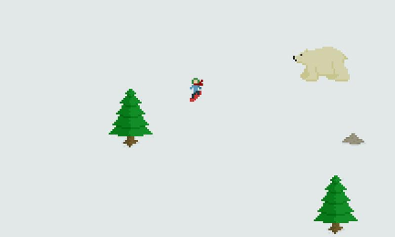 Snow Boarding Lite- screenshot