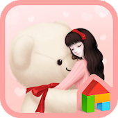 lovely girl hug dodol theme