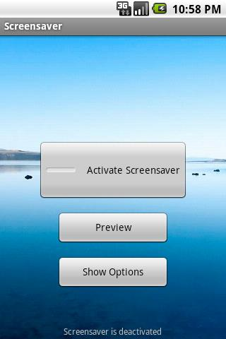 Screensaver Manager- screenshot