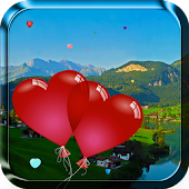 Heart Balloons Live Wallpaper