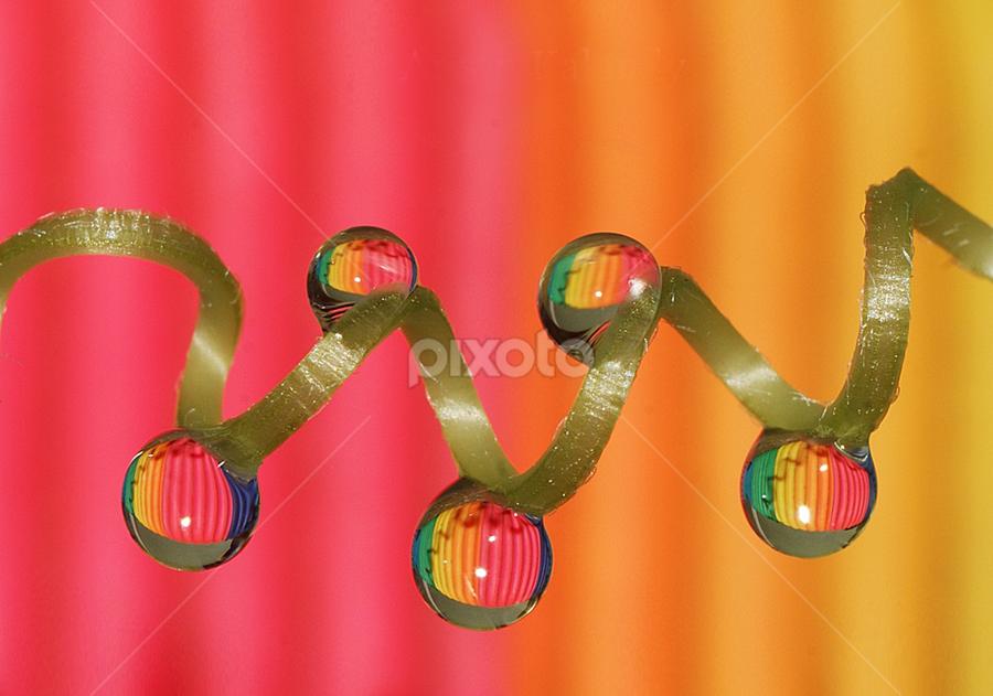 Spiral drops by Aroon  Kalandy - Abstract Water Drops & Splashes ( macro, concept, syring, water drops, colors, rainbow )