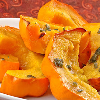 Golden Acorn Squash With Sage And Honey.