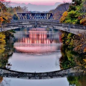 by Karen Jaffer - Buildings & Architecture Bridges & Suspended Structures ( fall, color, colorful, nature,  )