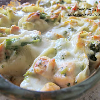 Chicken And Broccoli Stuffed Shells.