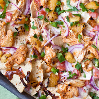 BBQ Chicken & Grilled Pineapple Nachos