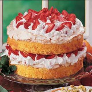Strawberry Meringue Cake.