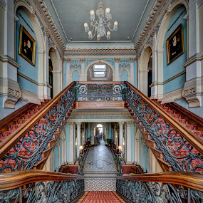Werribee Mansion Stairs by John Williams - Buildings & Architecture Public & Historical ( melbourne, australia )
