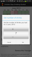 Screenshot of Stop Drinking Alcohol App
