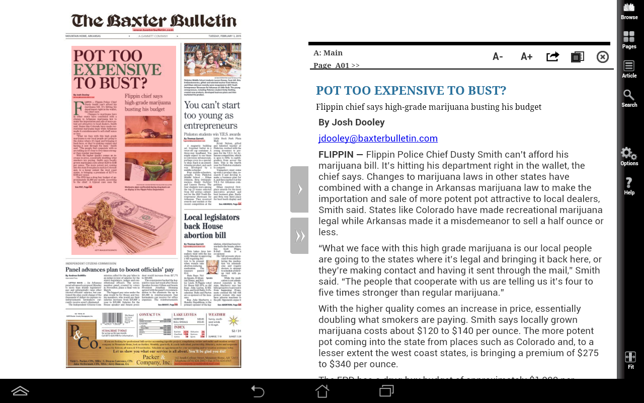 The Baxter Bulletin Print- screenshot