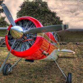 Red Racer by David Kawchak - Transportation Airplanes ( red airplane, red racer, airplane, red cessna, cessna, air, transport )