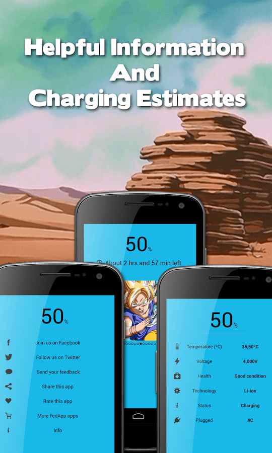 Dragon Ball Battery Widget - screenshot
