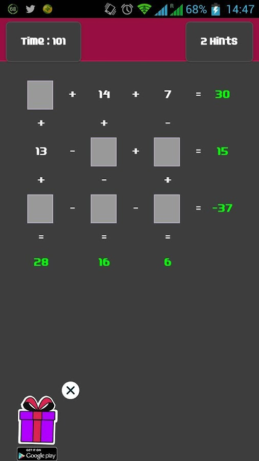 Multi Dimension Math Lite - screenshot