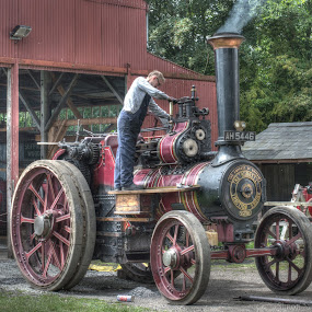 Steam Traction Engine by Simon Sweetman - Transportation Other ( farm, steam.engine, vintage, tractor,  )