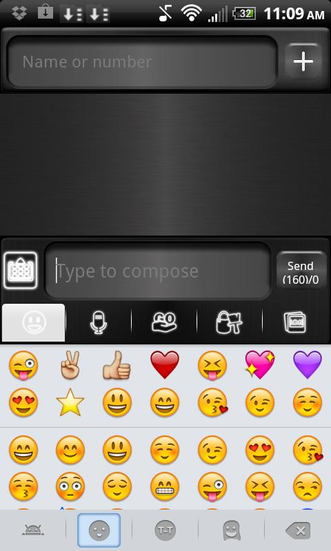 GO SMS THEME Green Metal - screenshot