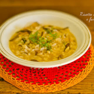 Dried Mushrooms and Fennel Risotto.