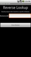 Screenshot of Resistor ID Lite
