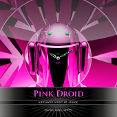 pink theme droid clock widget