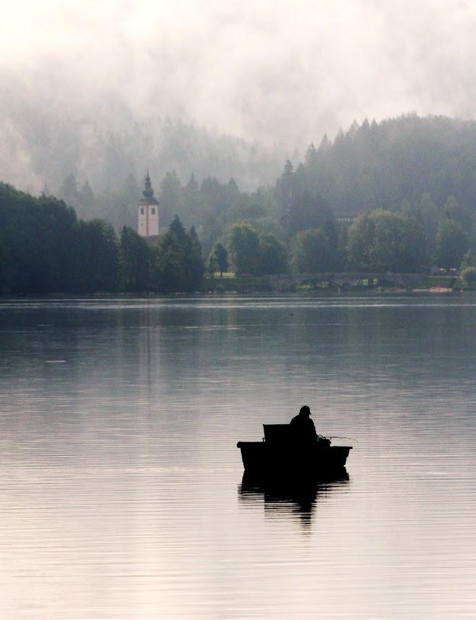 Morning fishing! by Jože Borišek - Landscapes Weather ( bohinj ( slovenia )