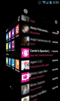 Screenshot of GOSMS WP7 Pink Theme Free