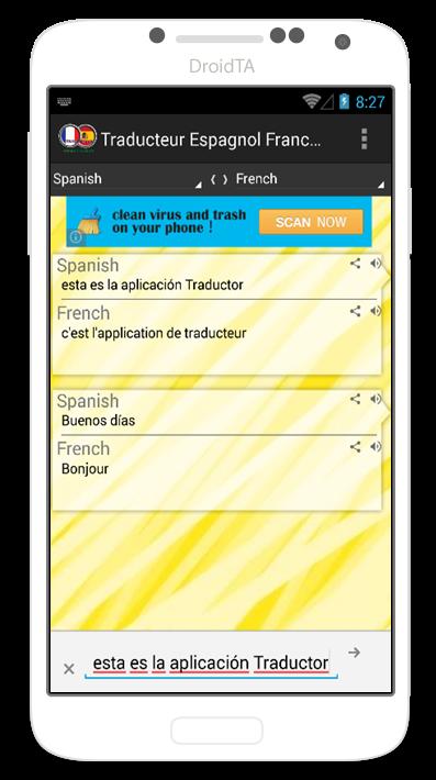 traducteur espagnol francais android apps on google play. Black Bedroom Furniture Sets. Home Design Ideas