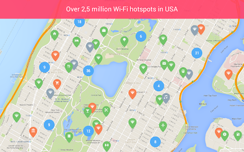 Free WiFi: WiFi map, WiFi password, WiFi hotspots Screenshot