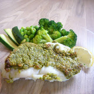 Codfish Fillet in Green Coat.