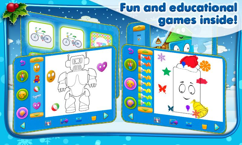 Friendly Shapes XMAS Storybook - screenshot