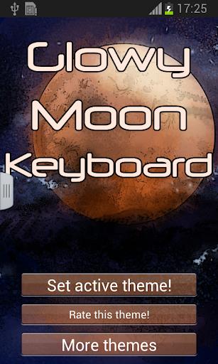 發光效果月球鍵盤