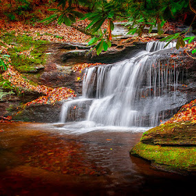 by Charles Hardin - Landscapes Waterscapes ( greenville county sc, waterfalls, mountains of sc, waterfalls of sc, charles k. hardin photography, autumn, fall foliage, fall, landscape, autumn in the carolinas )