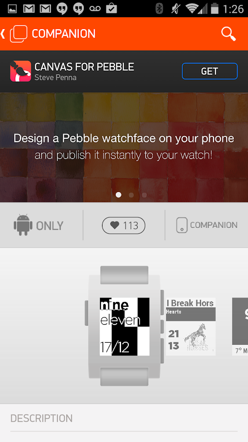 Pebble- screenshot