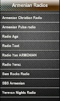 Screenshot of Armenian Radio Armenian Radios