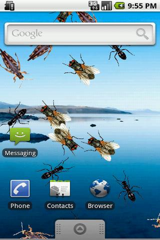 Live Wallpaper Creepy Crawlies- screenshot