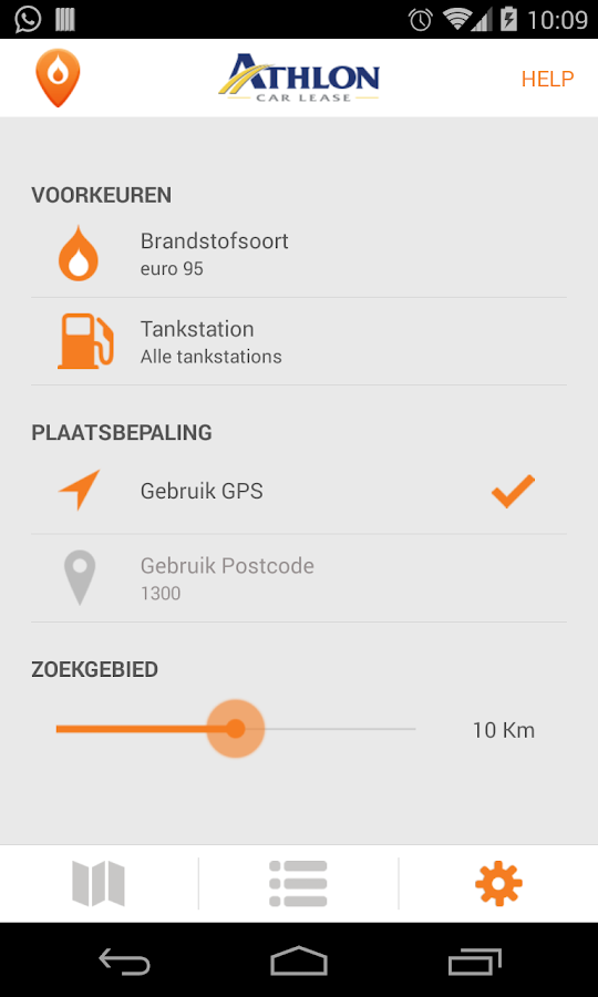 Athlon Brandstofprijs- screenshot