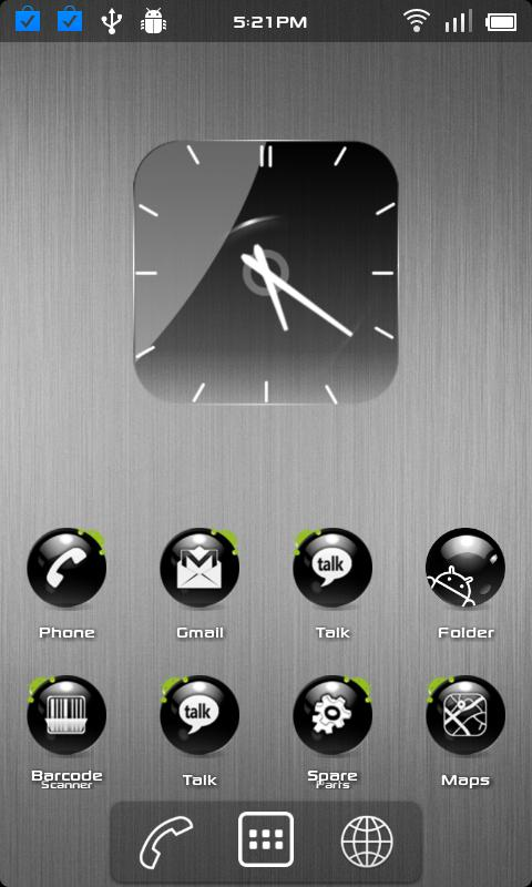 Crystal Blackball HD icon pack - screenshot