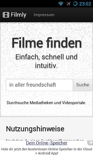 Filmly Mediatheken durchsuchen