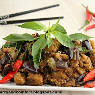Thai Basil Eggplant Stir Fry.